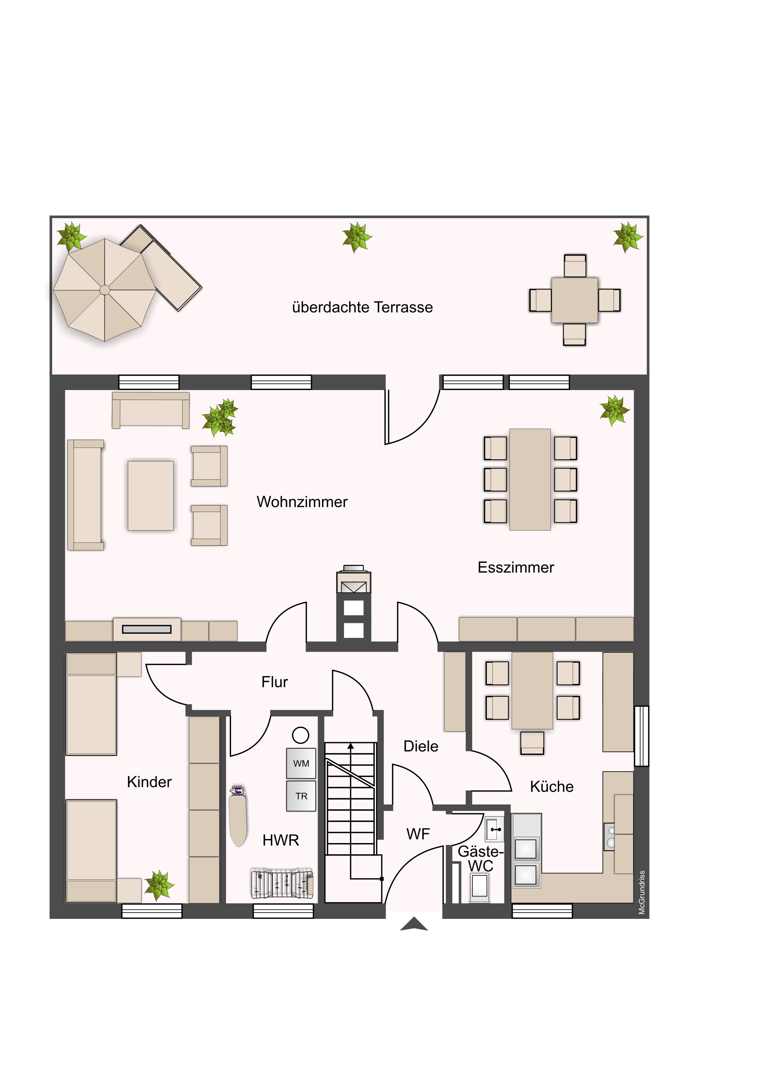 Fein Küche Esszimmer Wohnzimmer Grundrisse Ideen - Ideen Für Die ...